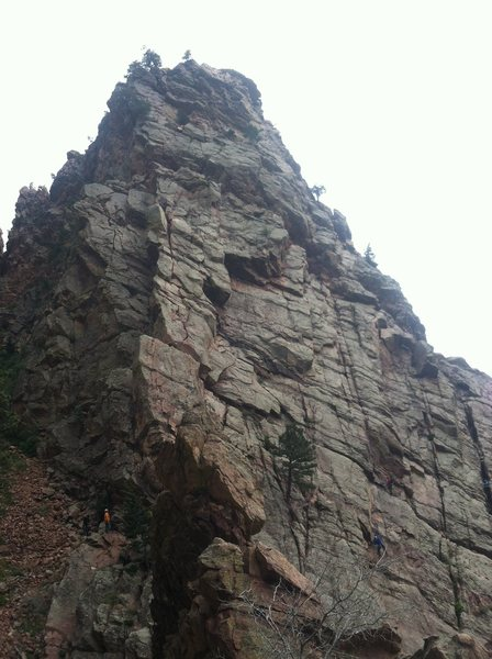 Rock Climbing Photo: SW Face of the Wind Tower from the top of the Whal...