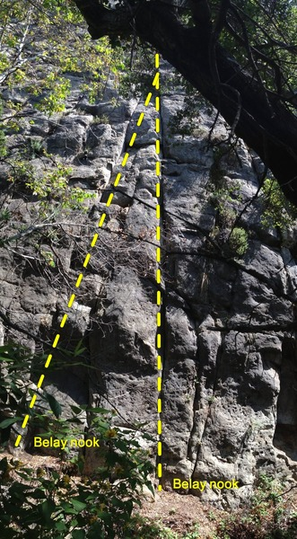Monsters with belay nooks