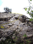 Rock Climbing Photo: A couple of the many ways to get to the crux and t...