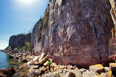 Rock Climbing Photo: Battling the heat on Soli Deo Gloria. 05/25/2014.