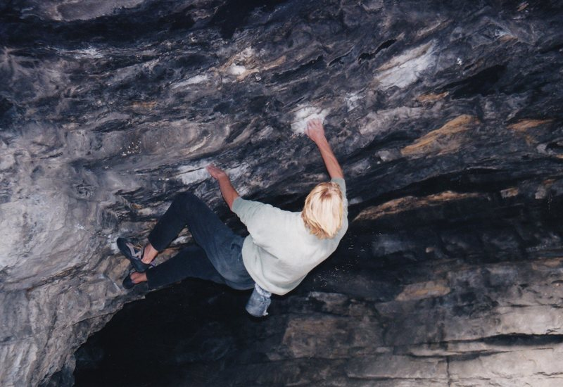 Bouldering in Bone Cave.
