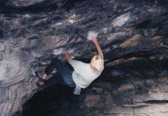 Rock Climbing Photo: Bouldering in Bone Cave.