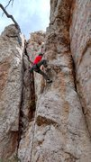 Rock Climbing Photo: Christian mid crux