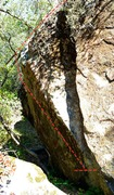 climb the awesome overhanging wall on the left side here above the poison oak. It goes away in winter :)