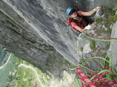Rock Climbing Photo: Top of pitch 3  Photo by Irina