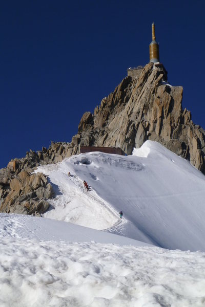 Rock Climbing Photo: descent from the Midi  (a little scarier than it a...