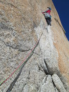 Rock Climbing Photo: Contemplating glassy slopers with only old iron fo...