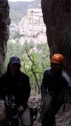 Rock Climbing Photo: Mike and Josalyn inside the giants molars getting ...