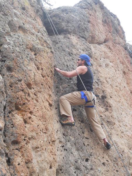 Me climbing at mother goose wall.