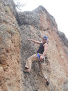 Another of me climbing mother goose wall.