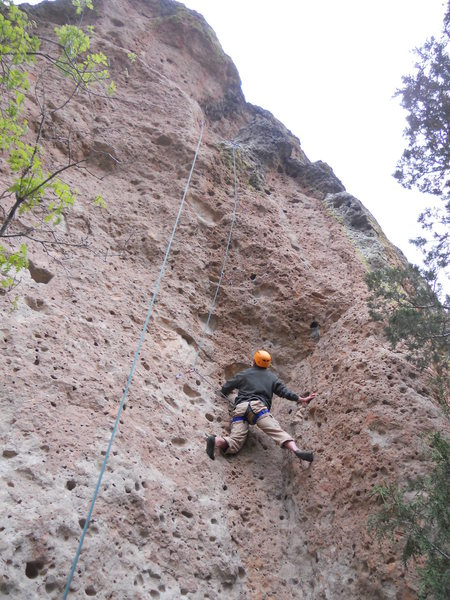 Me climbing Tooth Fairy. Next time I will conquer!