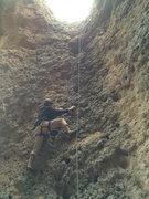 Rock Climbing Photo: Me climbing Gravity Cavity on the giants molars.