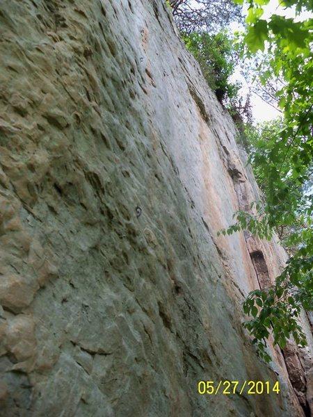 Rock Climbing Photo: The shallow, orange corner near the right side of ...