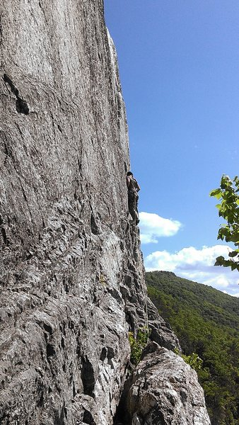 Carson Purnell on the pitch #2 traverse.