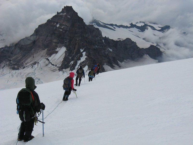 Rock Climbing Photo: My. Rainier Descent
