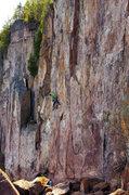 Rock Climbing Photo: Nate Erickson on Soli Deo Gloria. 05/25/2014.