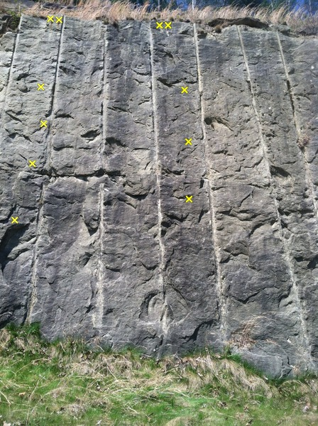 Rock Climbing Photo: routes 5 and 6