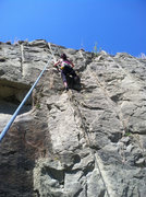 Rock Climbing Photo: Julie workin route 4