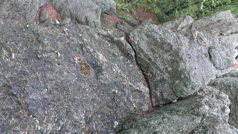 Rock Climbing Photo: Another couple Anchors to run different routes. No...