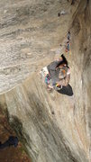Rock Climbing Photo: Matt Odenburg just past the OW section.