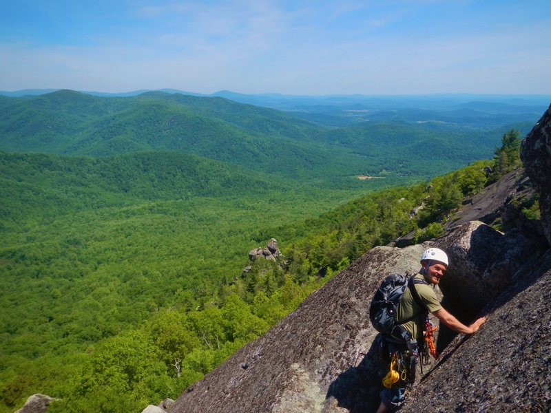Rock Climbing Photo: Scramble located outside of Cave located at Middle...