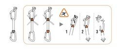 Rock Climbing Photo: How not to clip a quickdraw.