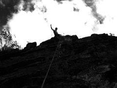 Rock Climbing Photo: Climbing in a Secret Location in Missoula, MT (5.7...