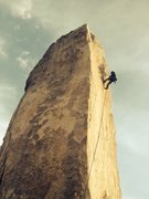 Rock Climbing Photo: Ramon rapping off the back side of Headstone after...