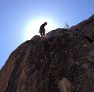 Rock Climbing Photo: Rapping down after climbing Shantytown Swing(5.6) ...