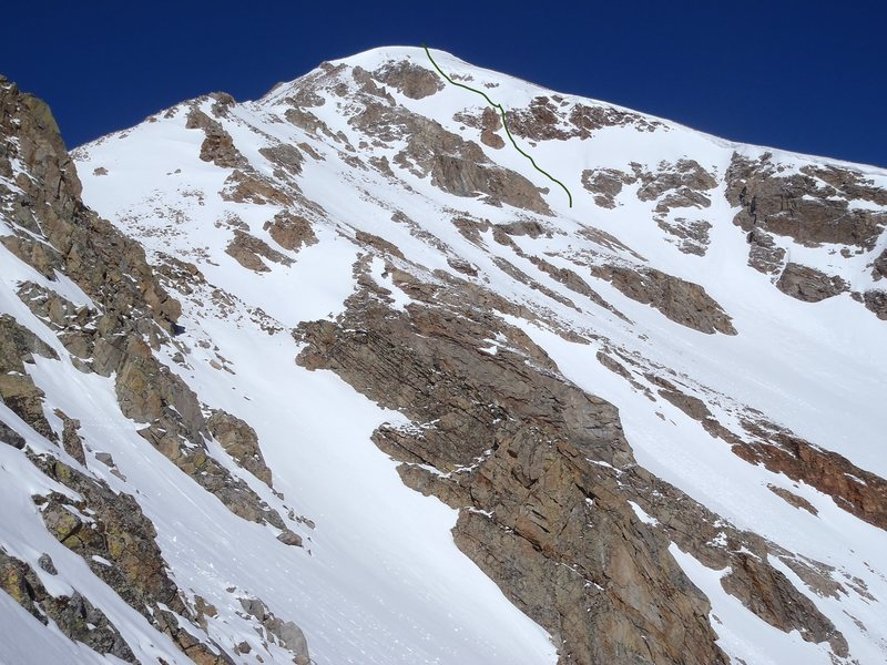 Hope Couloir with a nice vertical notch to go through