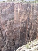 Rock Climbing Photo: The brown shield wall.