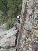 Rock Climbing Photo: Andrew climbing Eldo Morning Thunder.