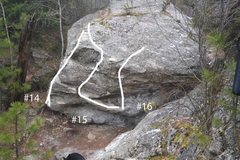 Rock Climbing Photo: #14, #15, #16