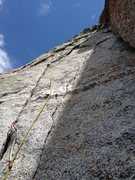 Rock Climbing Photo: The start of pitch 3 via guide book, but for us st...