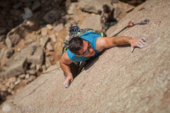 Dominic Gonzalez-P­adron working the crux.