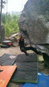 Rock Climbing Photo: Kat on the Fin.