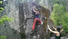 Rock Climbing Photo: Trying to find the sweet spot on U2