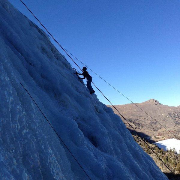 Rock Climbing Photo: June Lake, CA Ice Climbing