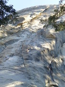 Rock Climbing Photo: First pitch as seen from the base. Climb past two ...