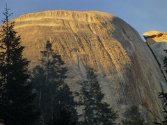 Rock Climbing Photo: Large South Face of Santa Cruz Dome