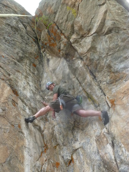 Rock Climbing Photo: On the route in the stem.
