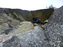 Rock Climbing Photo: First 5.11a crux - a giant roof