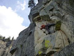 Rock Climbing Photo: Start of pitch 8