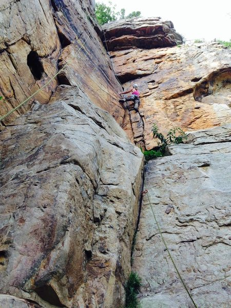 Mock lead with Arno. Fall consequence on lead rope
