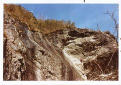Rock Climbing Photo: Diff Ritchie belaying Bob Rotert on 1st ascent of ...