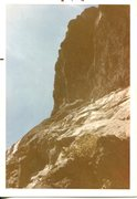 Rock Climbing Photo: Diff Ritchie leading on first ascent with Bob Rote...