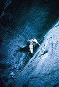 Rock Climbing Photo: Diff Ritchie on the seal in 1970's