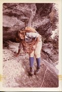 Rock Climbing Photo: Diff Ritchie guiding on Whitesides in the 70's