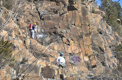 Rock Climbing Photo: Graffiti Removal