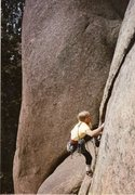 Rock Climbing Photo: Noel on an attempt to figure out Arch Nemesis, spr...